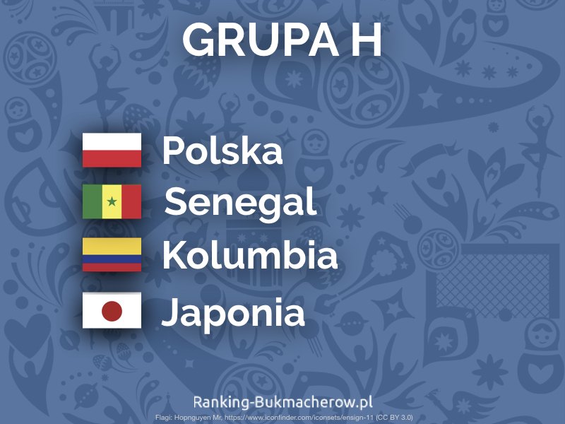 Mistrzostwa Swiata w pilce noznej 2018 Rosja - grupa h