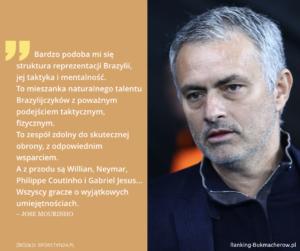 wypowiedz Mourinho na temat brazyli mundial 2018